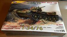 ZVEZDA 3525 - 1/35 T-34/76 SOVIET MEDIUM TANK - NUOVO