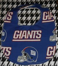 NFL NEW YORK GIANTS BABY BIB LINED HOOK & LOOP CLOSURE HANDMADE
