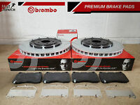 FOR VAUXHALL ASTRA J GTC MK6 VXR FRONT DRILLED 2-PIECE BREMBO BRAKE DISCS PADS