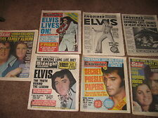 LOT of 7 ELVIS PRESLEY vintage MAGAZINES 1977 1978 1979 1980 newspapers tabloids