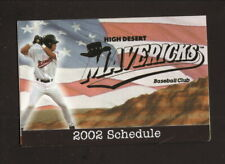 High Desert Mavericks--2002 Pocket Schedule--Town & Country Tire--Brewers
