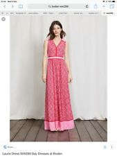 Boden New Laurie Maxi Dress - Red Multi - Size 14L