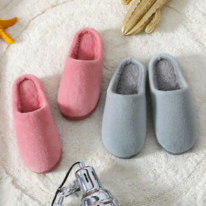 Soft Non-Slip Slippers Couple Winter Indoor Home Warm Plush Floor Furry Shoes