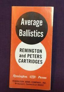 *Vintage Remington & Peters Cartridges Ballistics Rifles Advertising Brochure