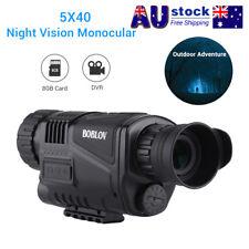 "5x40 Monocular Infrared IR 1.44"" LCD Zoom Night Vision Camera Video Photo DVR 8G"