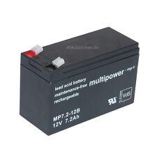 Blei-Gel Akku Multipower MP7.2-12 AGM bgl. Panasonic LC-R127R2PG Batterie Accu