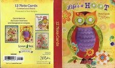 Leanin Tree Greeting Card Assortment 12 Card Box Set Lifes A Hoot