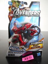 NEW! MARVEL AVENGERS IRON ASSAULT BIKE BATTLE CHARGERS ZOOMING FAST ACTION A8-21