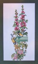 Eva Rosenstand Birds at Waterpump 14-052 Hollyhock Clara Waever Cross Stitch Kit