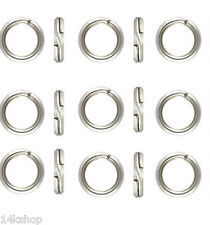 15 piece 6mm SOLID Sterling Silver .925 Very Tight Split Ring Findings