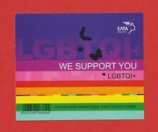 GREECE 2021 - Block of 4 self adhesive collectible stamps LGBTQI+ we support you
