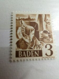 FRANCE 1947 OCCUPATION ALLEMAGNE BADE, timbre n° 2, neuf**, VF STAMP