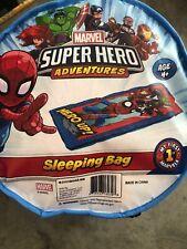 Spiderman Boys Sleeping Bag Sleepover Blanket Bedding Gift Toy Avengers New