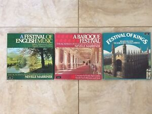 3x BOXED SETS ARGO ST MARTIN MARRINER KING'S WILLCOCKS CLASSICAL ENGLISH BAROQUE