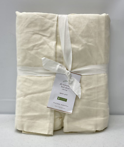 "NEW Pottery Barn PB Essential Cotton & Linen QUEEN Bedskirt w/18"" Drop~Ivory"