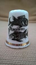 Collectable china thimble star sign Pisces two fishes February March