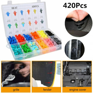 420Pcs Car Body Fender Bumper Rivets Trim Clip Retainer Fastener Assortment Box