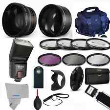 Professional Flash / Lens / Accessory Kit for Canon EOS Rebel T5i T4i T3i T3 SL1