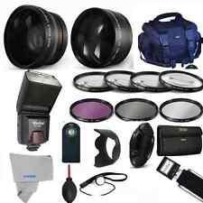 Professional Flash / Lens / Accessory Kit for Canon EOS Rebel 20D T4i T3i T3 T5I