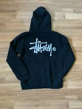 Stussy Original Pullover Black Hoodie Sweater Size Medium