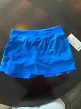 NWT Lululemon Pace Rival Skirt Skort Size 8 Tall Bluebell Blue Sold Out!!