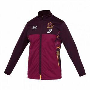 Brisbane Broncos 2021 Travel Jacket Mens , Asics Official NRL Merchandise
