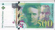 BILLET DE 500 FRANCS  PIERRE ET MARIE CURIE 1994   7038