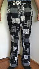 """Vtg Sansabelt Jaymar Golf Pants 33"""" Retro Golf 60s 70s Black White Mod Disco"""