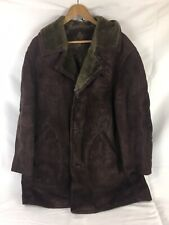 Shearling Coat Jacket - Size M/L - Purple Brown