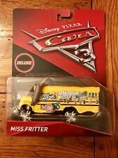 Mattel Disney Pixar Cars 3 Deluxe MISS FRITTER School Bus In Stock