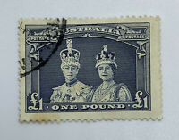 1938 AUSTRALIA SC#179 SG178 King & Queen £1 Used