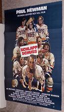 SLAP SHOT/SLAPSHOT original 1977 HOCKEY movie poster PAUL NEWMAN/HANSON BROTHERS
