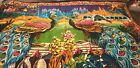 Mid-Century (1940's) Hand Made Wall Hanging/Tapestry.  Peacocks & Palace...