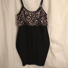 NWT Torrid Black Pink Sequin Bodycon Party Dress 1X Plus Size Cocktail Dance