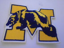VINTAGE UNIVERSITY OF MICHIGAN  WOLVERINE EMBROIDERED CHEST PATCH