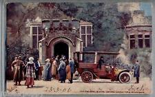 The King leaving Lismore for Motor Drive TUCK Oilette 9017 PC Postally used 1906