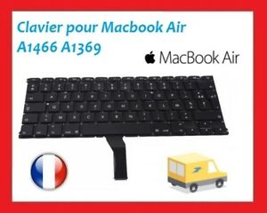 "Genuine Macbook Air 13"" A1369 2011 A1466 2012-2015 Clavier FR AZERTY Keyboard"