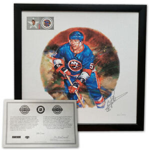 2002 Denis Potvin NHL All-Stars Autographed Lithograph Frame Stamp