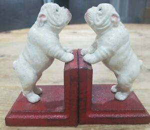 QUALITY PAIR OF CAST IRON BULLDOG BOOK ENDS Gift Dog