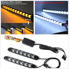 2X12V Flexible Dual Color 108LED Car Switchback Flowing Lights Arrow Flasher DRL