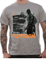 Official Tom Clancy's The Division Civil Disorder T-shirt Grey Small