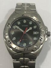 Citizen CA4010-58L 43mm Cassa di Titanio, Cinturino di Titanio, Orologio da Polso per Uomo