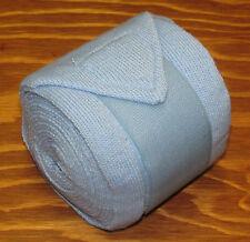 Horze Acrylic Bandages - Horse Leg Warming Wraps - Light Blue - Set of 4 - NEW