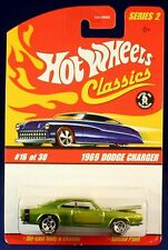 Hot Wheels Clásicos Serie 2 1969 Dodge Cargador Verde #16 De 30