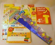 NEW Teaching Supplies Bundle - Borders, Nameplates, Stickers Die Cut Letters
