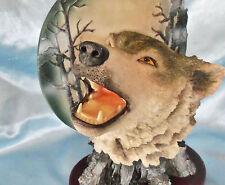 "Wolf Moon Statue figurine 10"""
