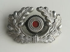 VINTAGE AUTHENTIC WW2 GERMAN WEHRMACHT ARMY OFFICER BADGE for VISOR HAT CAP
