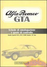 Alfa Romeo Gta Homoligation Book Omologazione 2000 1300 Junior Racing (Fits: Alfa Romeo)