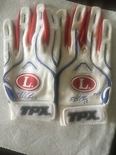 Sterling Castro Autograph 2013 Chicago Cubs Batting Gloves JSA Authenicated