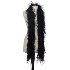 Black 4 Ply Ultra Ostrich Feather Boas - Scarf - 6 Feet Long - Halloween Costume